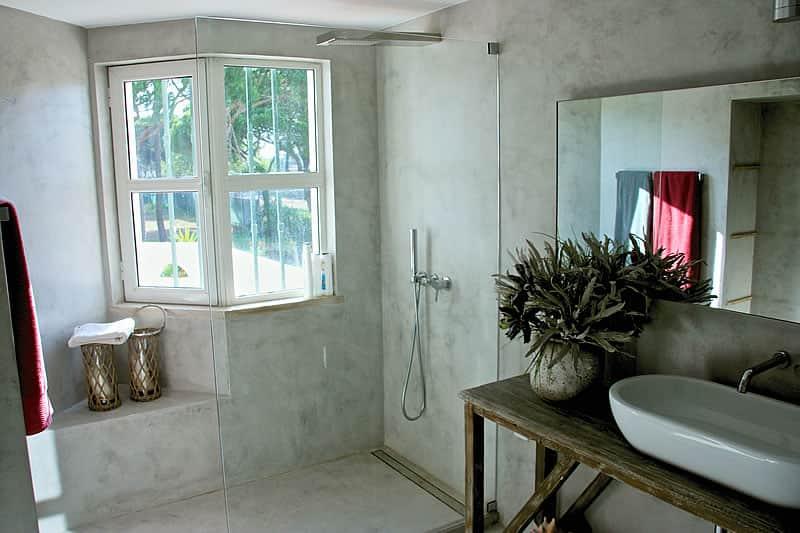 Casas de banho em microcimento, moradia em Vilamoura #8