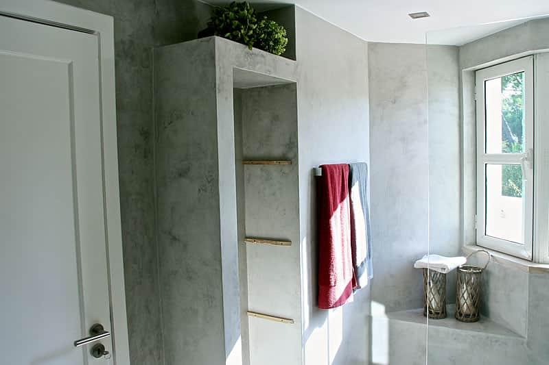 Casas de banho em microcimento, moradia em Vilamoura #9
