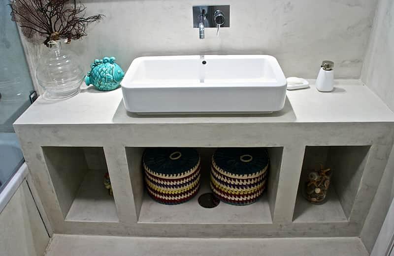 Casas de banho em microcimento, moradia em Vilamoura #2