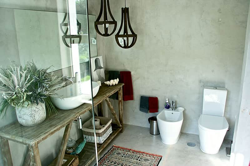Casas de banho em microcimento, moradia em Vilamoura #7
